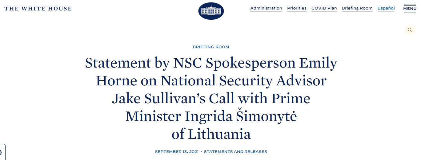 """美高官又给立陶宛总理打电话,继续操弄""""中国胁迫"""""""