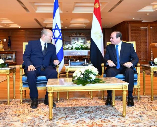 埃及总统塞西会见以色列总理贝内特