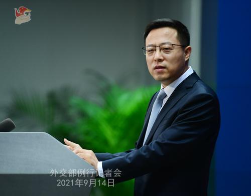 9月14日外交部例行记者会(图)
