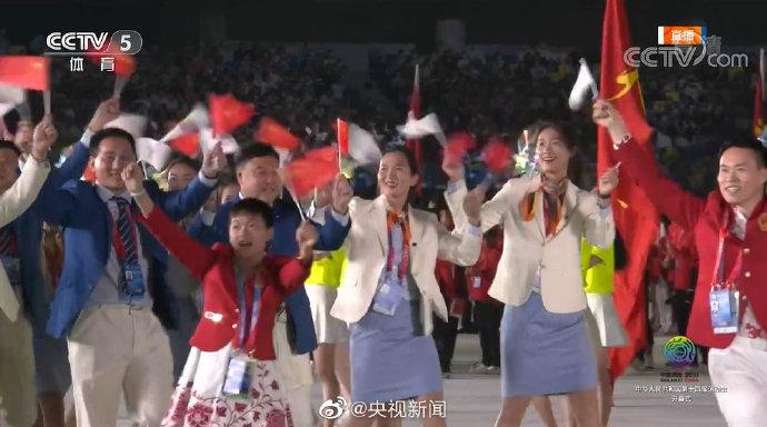 2021全运会开幕式 全红婵入场