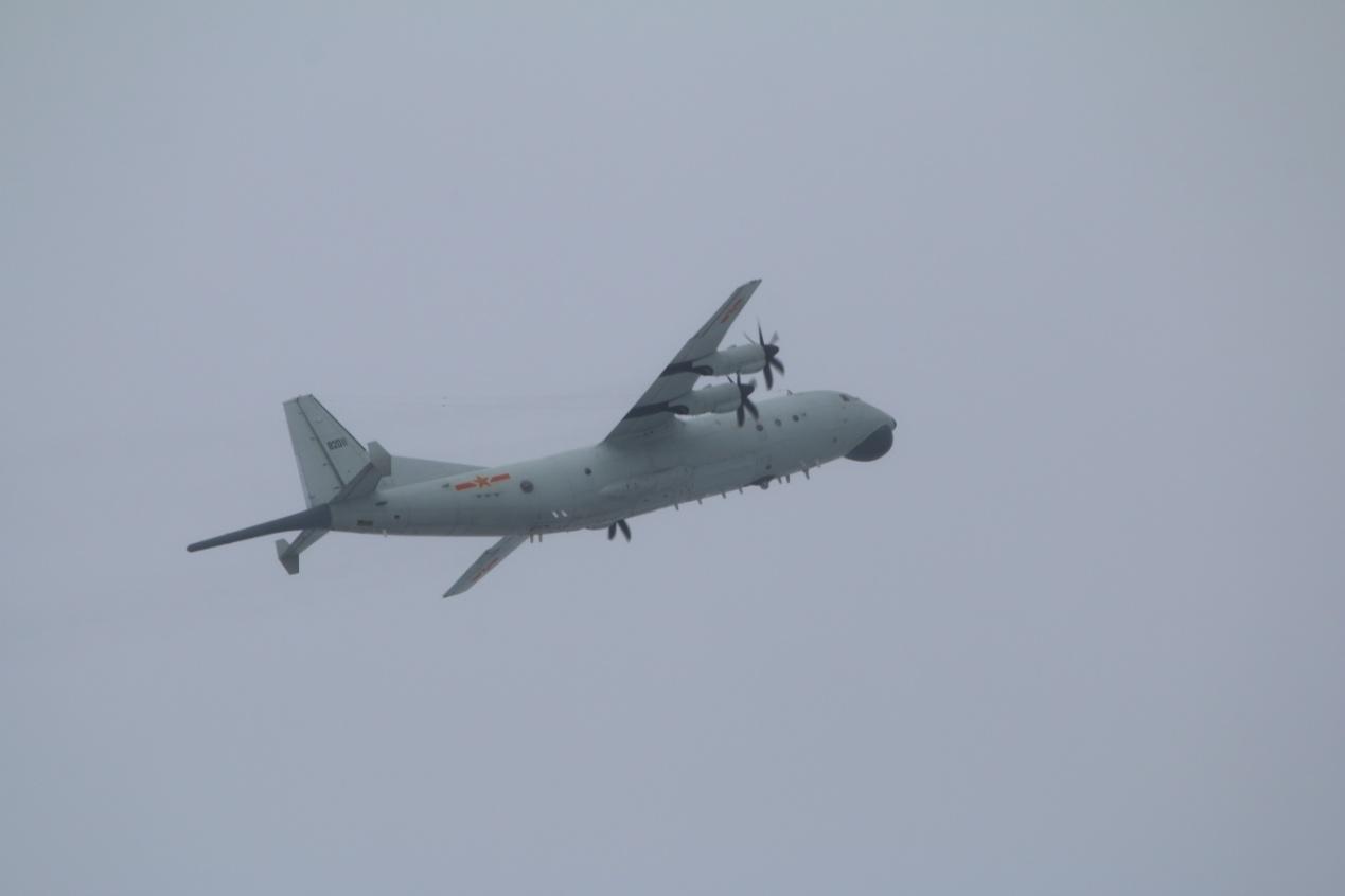 """台媒:解放军1架运-8反潜机晚间进入台西南空域,""""台空军今天发了2次'共机'动态"""""""