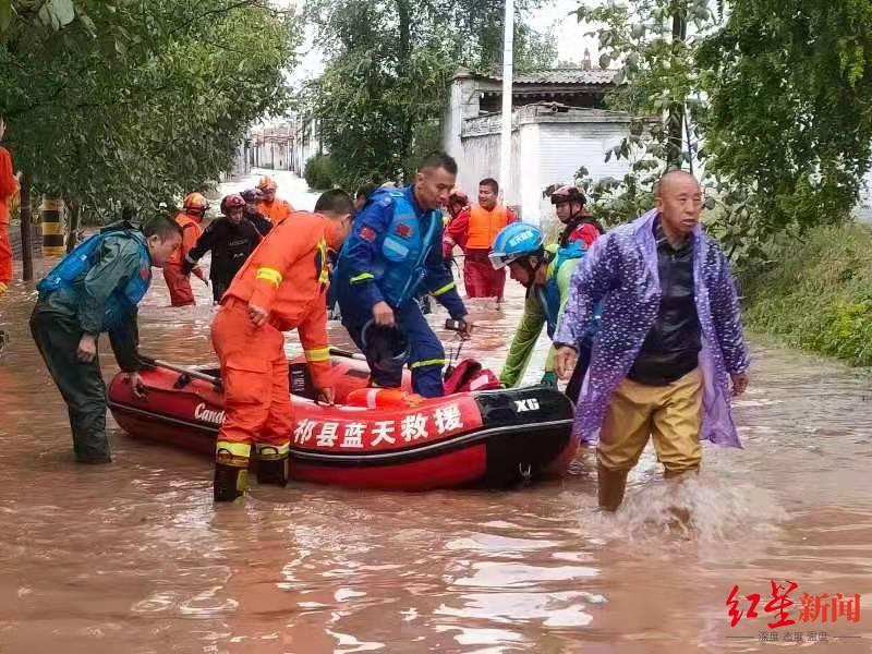 山西多地连夜组织居民撤离,有老人被洪水冲走 救援队:山体多为黄土,农村窑洞易滑坡