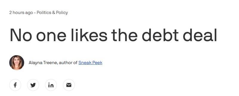 美参议院通过提高债务上限法案 美媒:权宜之计