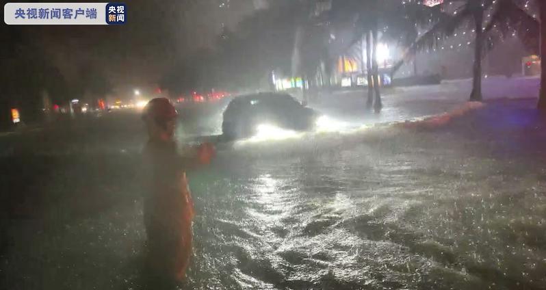 """台风""""狮子山""""登陆致美兰机场取消航班219架次 海南提升为暴雨三级预警"""