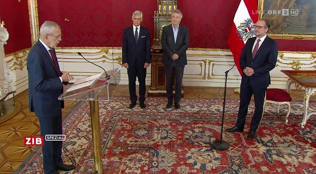 沙伦贝格宣誓就任奥地利总理