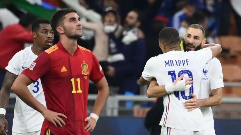 法国队战胜西班牙队获得欧洲国家联赛冠军