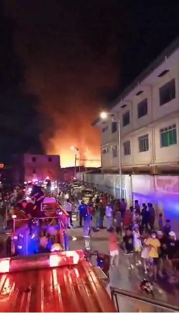 菲律宾马尼拉一社区发生火灾 造成1人死亡1人受伤