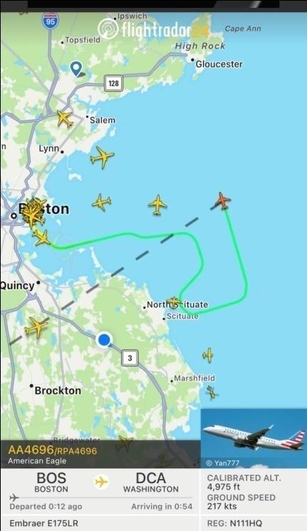 被鸟撞击?美国航空公司一架航班因突发事件被迫返航