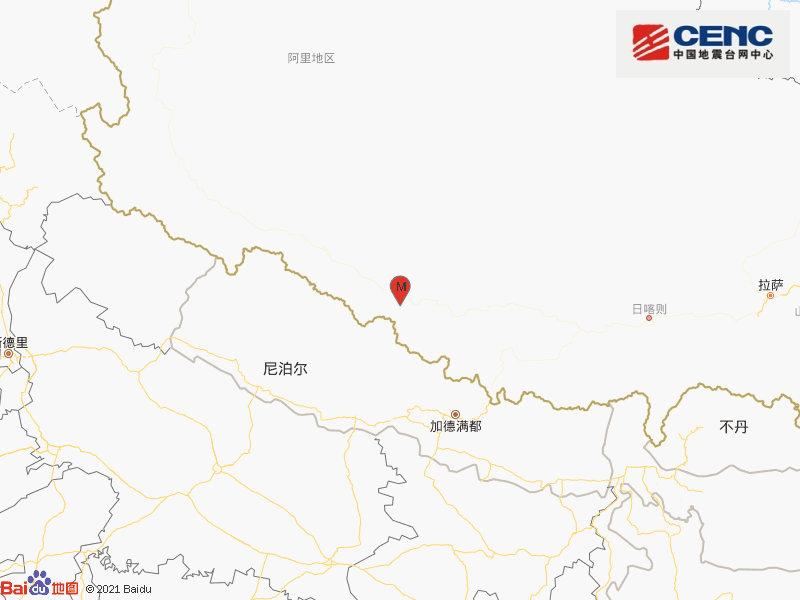 西藏日喀则市仲巴县发生3.8级地震 震源深度10千米