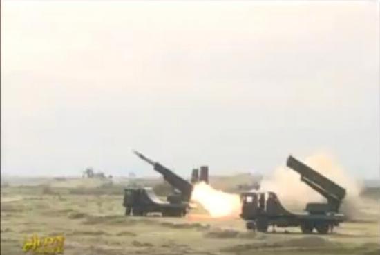 土库曼斯坦军队KS-1A导弹进行演习