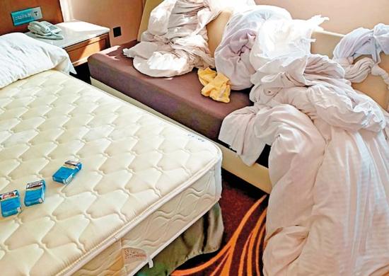 台湾48名诈骗犯隔离期间大闹旅馆:抽烟喧哗 撕床单绑绳偷运烟