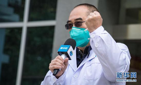 这是1月29日拍摄的武汉金银潭医院院长张定宇。路透社记者 肖艺九 摄