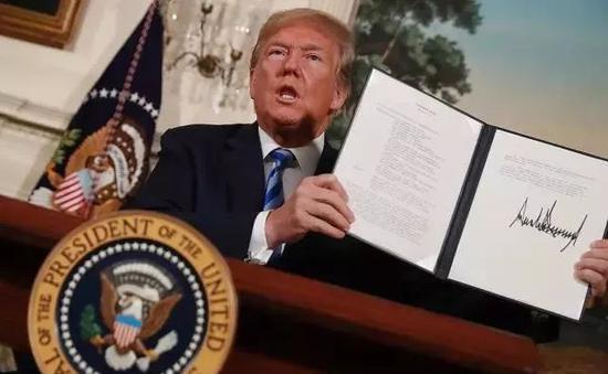 2018年5月8日,特朗普宣布退出《伊核協議》