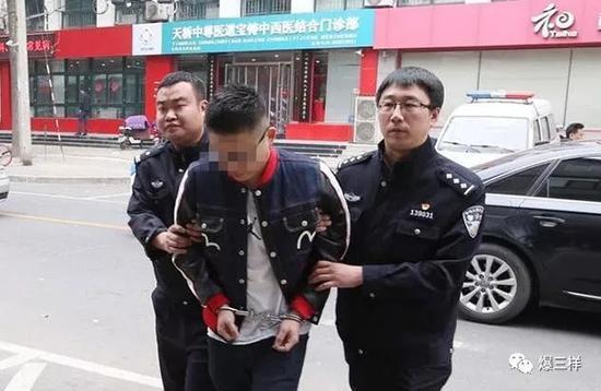 庄某被警方抓获 本文图均为 爆三样微信公众号 图