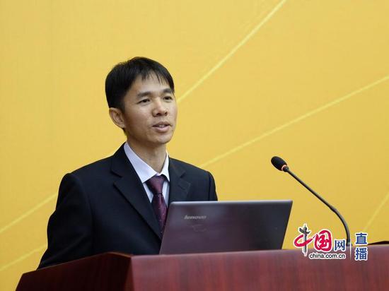 福建师范大学经济学院院长黄茂兴。中国网 宗超 摄