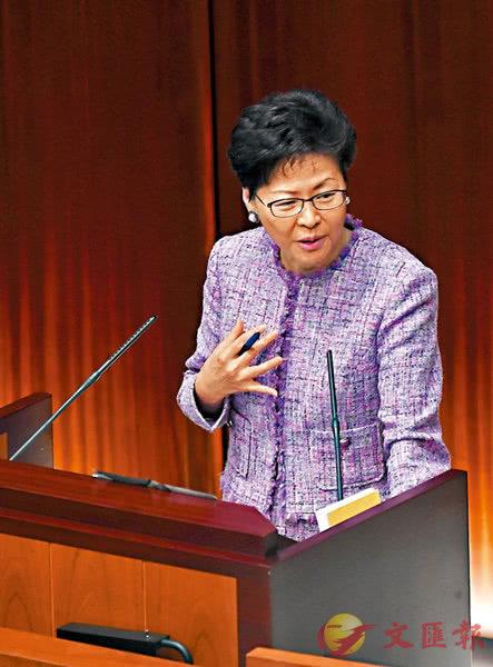 香港特首:部分议员常引述美政府意见 要看清事实