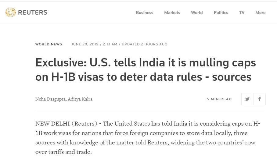 印度推�M���本地化政策激怒美政