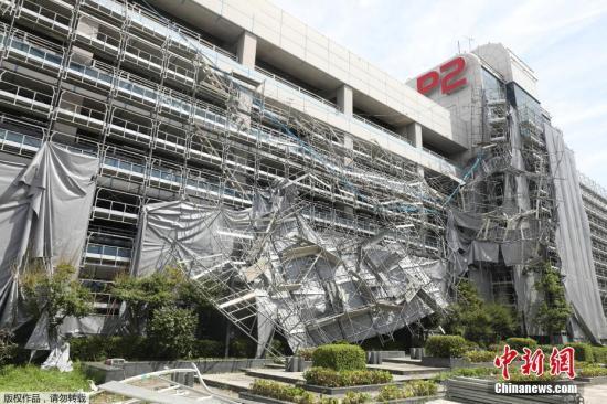 台风过境46万户居民断电 日本东电称暂无法恢复