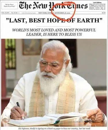 """《纽约时报》说""""地球最后、最好的希望是莫迪""""?"""