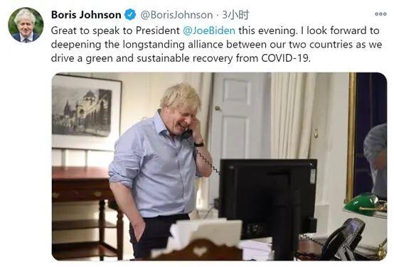 """与他通电话,约翰逊""""很高兴""""。"""
