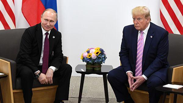 普京与特朗普会晤 图源:俄新社
