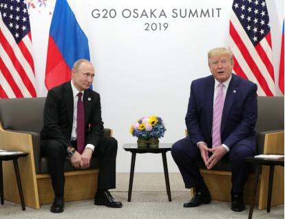 俄罗斯总统普京和美国总统特朗普 图源:路透社