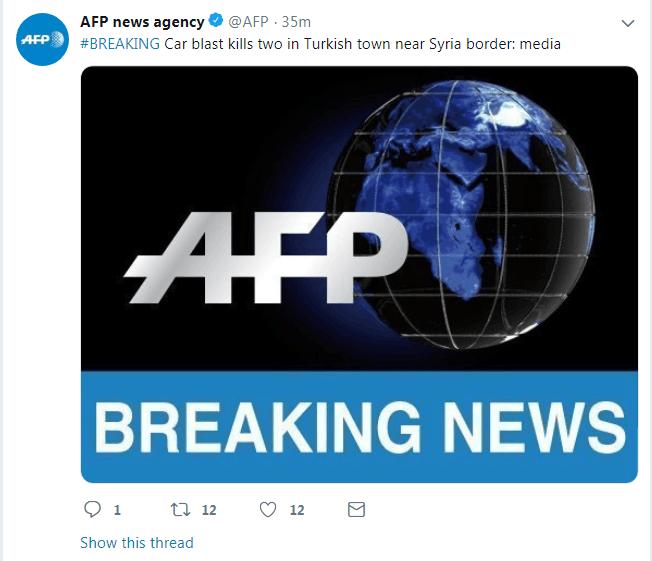土耳其靠近叙边?#36710;?#21306;发生汽车爆
