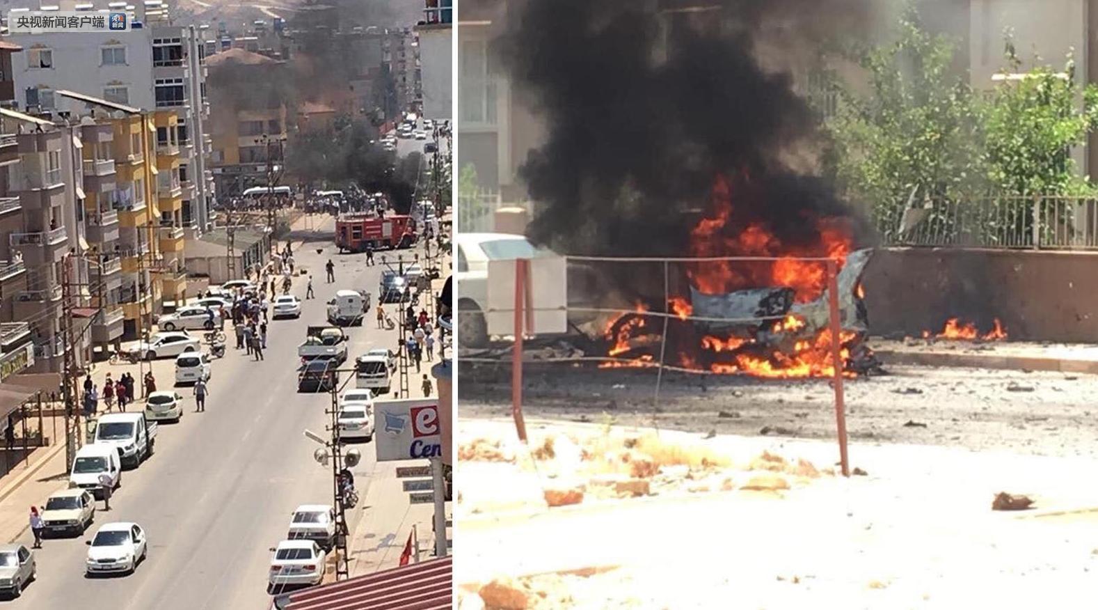 土耳其靠近叙利?#28508;呔车?#21306;发生爆