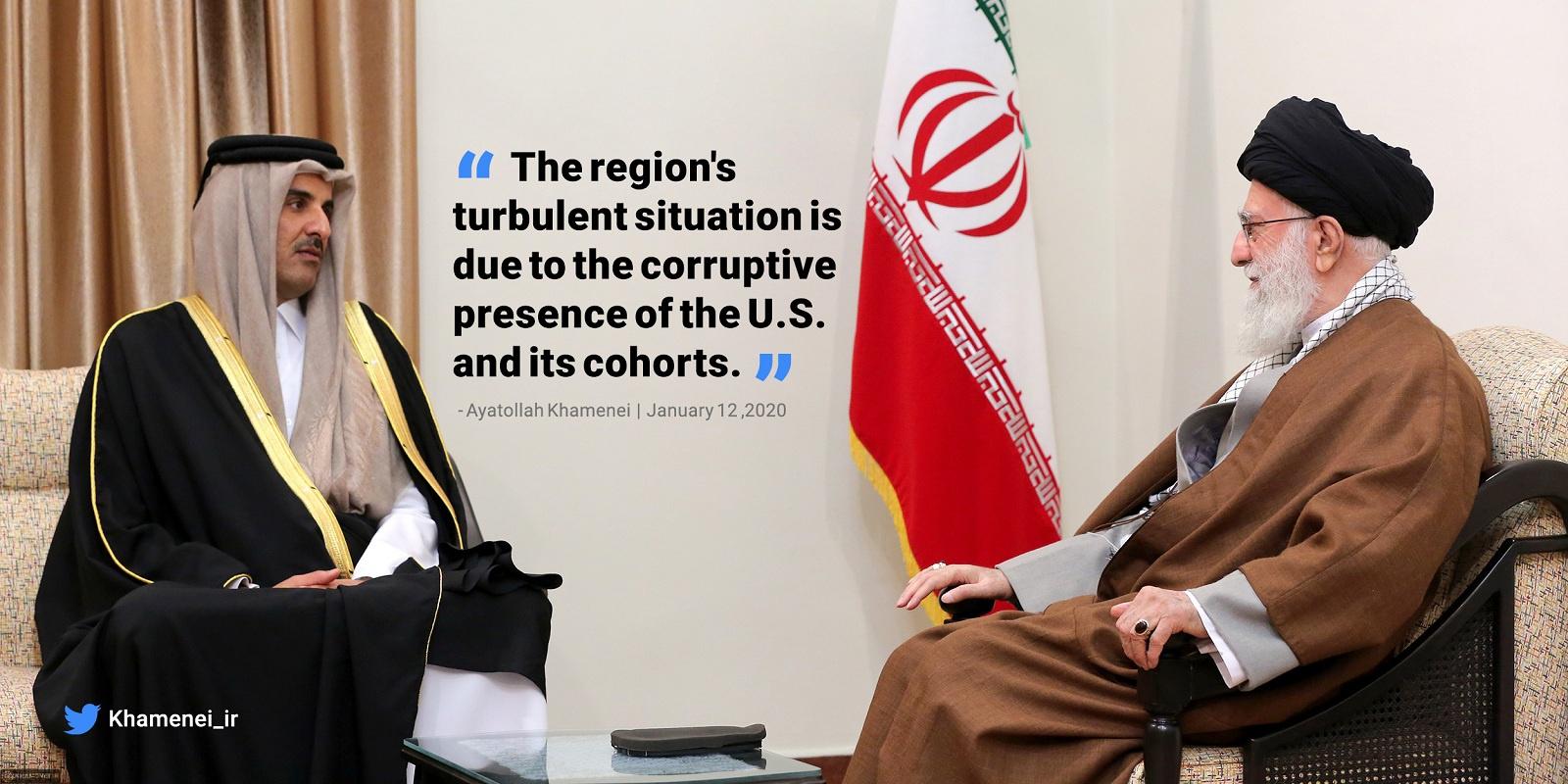 伊朗最高領袖連發3推:美及其同伙是中東動蕩之源