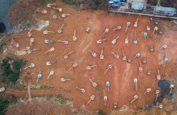 """境外媒体:武汉""""小汤山""""医院建设进展迅速"""
