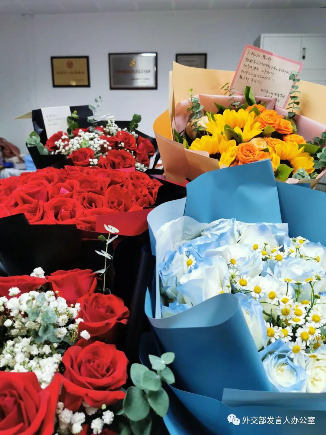 鲜花收悉 感谢好意