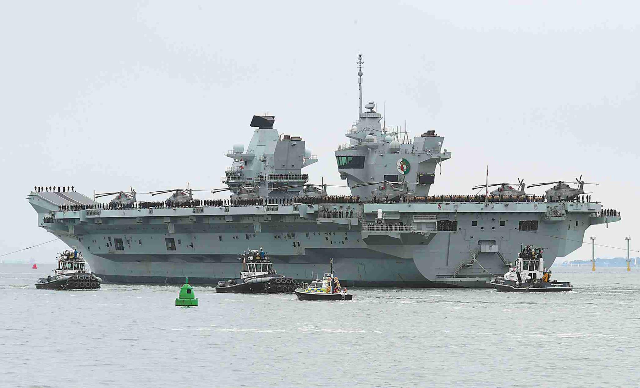 """想用航母""""秀武力""""?美盟友都派哪些战舰来南海"""