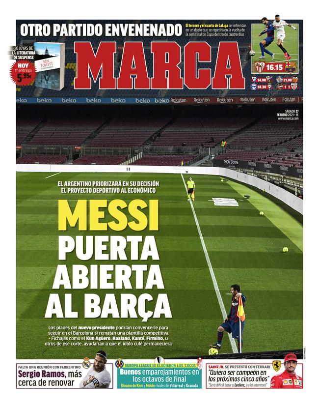 马卡:梅西为巴萨开大门 满足一条件他会留下