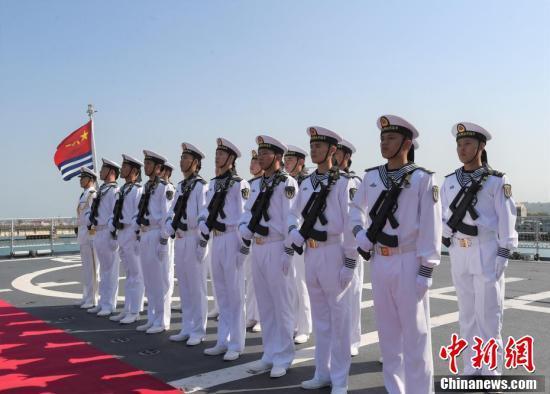 中国海军第三十批护航编队官兵。 本文图自中新网