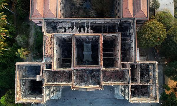 火後的巴西國家博物館