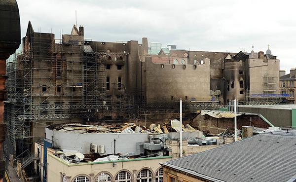 火後的蘇格蘭格拉斯哥藝術學院