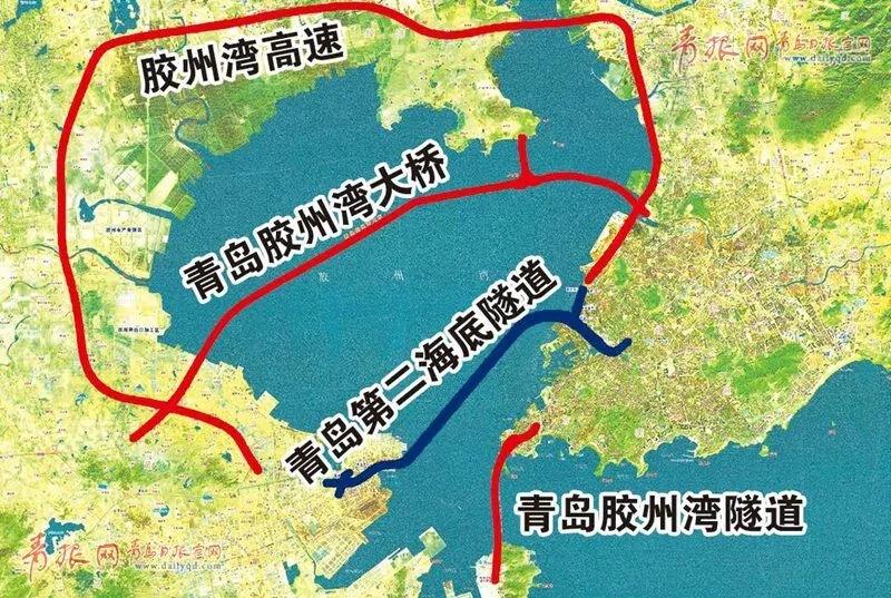第二条海底隧道示意图。