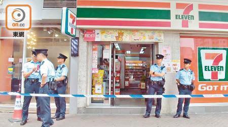 香港警方封锁案发现场(来源:东方日报网)