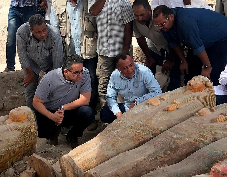 重大發現 埃及出土20副保存完好古代棺木(圖)